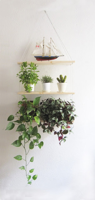 hanging shelves for pots
