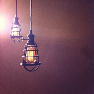 pendant lighting at the Nook